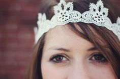 see kate sew: lace headband tutorial diy headband, lace headband, diy lace, bachelorette parties, princess crowns, birthday crowns, handmade gifts, lace crowns, christmas gifts