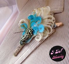 Boutonier maybe for a teal and coral color theme wedding