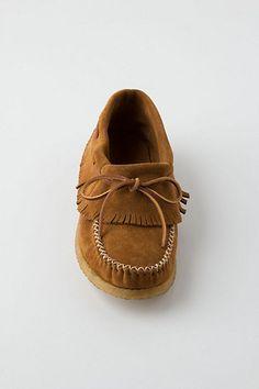 fringed moccasins