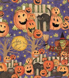 Holiday Inspirations Susan Winget Pumpkin Party Fabric : holiday fabric : fabric :  Shop | Joann.com