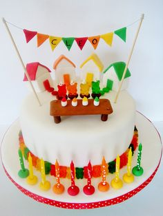 Gummy Bear Cake by punkshimmy, via Flickr  Bryce wants a cake with gummy bears. But I don't know about attempting THIS. . .it's SO stinking cute though! :)