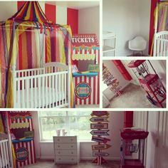 Clover 39 s circus themed bedroom on pinterest vintage for Circus themed bedroom ideas