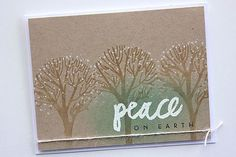 Peace On Earth Card by Heather Nichols for Papertrey Ink (September 2014)