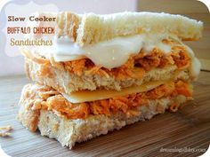 Slow Cooker Buffalo Chicken Sandwiches | Dreaming All Day