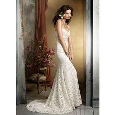 Champagne wedding dress.