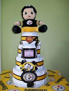 4-tier Pittsburgh Steelers Diaper Cake