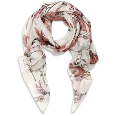 Alexander McQueen Floral Print Scarf ($565) ❤ liked on Polyvore