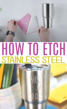 In this tutorial, we're going to show you How to Etch Stainless Steel. We are really excited to show you our stainless steel etching technique. We've been working on perfecting this so we could show you the perfect way to do it. #cricut #diecutting #cricutmade #cricutprojects #cricutmaker #cricutexplore