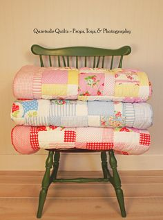 quilts on a chair!