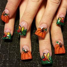 pumpkins - Nail Art Gallery