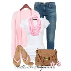 Untitled #70, created by latkins77 on Polyvore fashion, cloth, dress, white shirts, pale pink, pink outfits, polyvore outfits, casual outfits, spring outfits