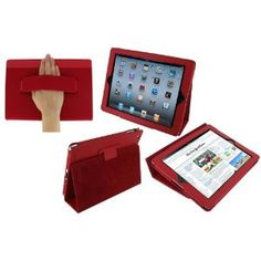 LOVE this iPad2 case, it's RED, slim and functional.  Mama likes!