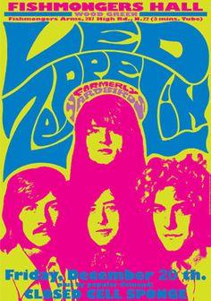 LED ZEPPELIN  - 20 December 1968 - Fishmongers - artistic concert poster
