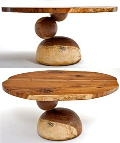 """Natural Furniture Dining Table Ball Design - Item #DT00421 - Solid Wood - This base design is for 42"""" Round"""