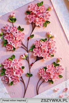 Quilled pink Blossoms