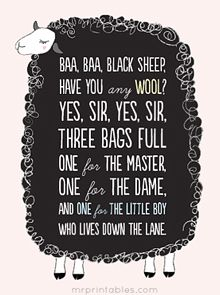 Printable Nursery Rhymes Posters | Mr Printables and other stuff