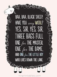 children's favorite nursery rhyme printable posters