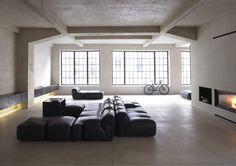 Minimalist interior, living rooms, empty spaces, open spaces, living spaces, dream, loft spaces, place, minimal living