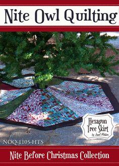 Nite Before Christmas Hexagon Tree Skirt PDF by NiteOwlQuilting, $9.00