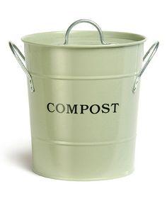 Another great find on #zulily! Green 'Compost' Kitchen Bucket #zulilyfinds
