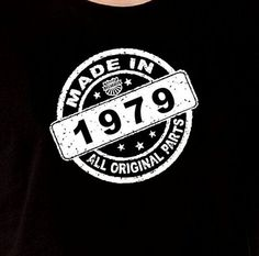 Made In 1979 Vintage 35th Birthday Gift Present by DesignDepot123, $13.90