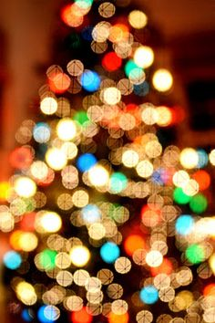 """The """"blurred Christmas tree"""" - lesson number 1"""