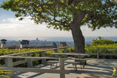 Sweeping views grace the swanky midcentury home where Ronald Reagan once lived in Pacific Palisades.