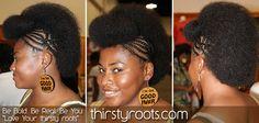 Braided Afrohawk
