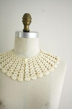on etsy crochet collar