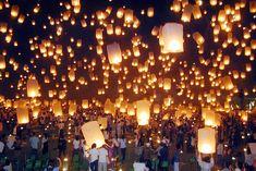column sky lanterns