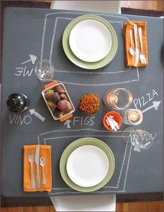 chalkboard table cloth