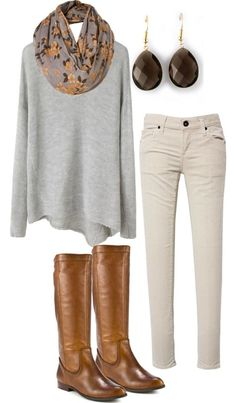 oversized sweater gray and brown
