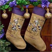 Fleur de Tigre Gold Christmas Stocking