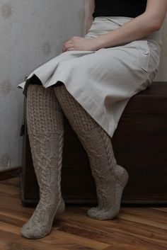 The knitted socks are perfect!