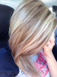 honey/ash blonde highlights