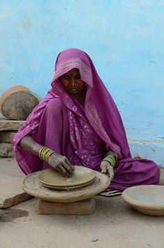"""Making """" Tawa """" , Pan for cooking Roti , India"""
