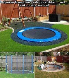 sunken trampoline