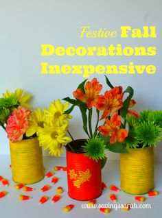 Fun, Festive Fall Decorations That are Inexpensive and Simple to Make. #falldecorations #decorations #fallcrafts-Earning and Saving with Sarah Fuller