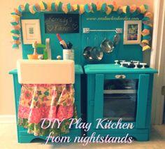 DIY Play Kitchen #diy #playkitchen