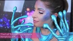OUT OF THIS WORLD: Alien Girl / Futuristic Halloween Makeup Tutorial, via YouTube.  LOVE what she did to get the color on her cheekbones!