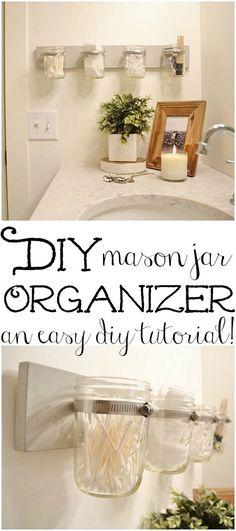 DIY Mason jar holder