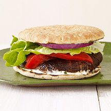 Grilled Portobello Burger with Basil Mayo
