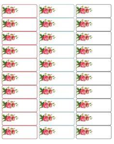 d'adorables étiquettes ornées de roses... Adorable address labels with roses