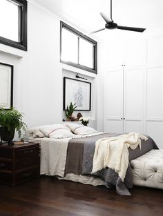 Bedroom. Love the fan in this one