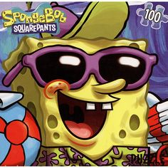 """SpongeBob SquarePants 100 Piece Puzzle: This 100-piece jigsaw puzzle featuring SpongeBob SquarePants will keep your little one busy. Completed puzzle measures 15"""" x 11.25"""". For ages 3 and up.  $3.99  http://calendars.com/Kids-TV/SpongeBob-SquarePants-100-Piece-Puzzle/prod201000011969/?categoryId=cat00071=cat00071#"""