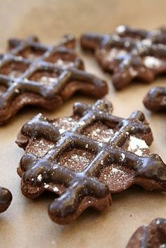 chocolate waffle cookies.