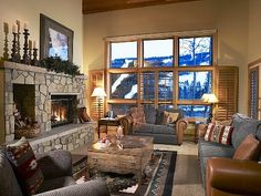 Vail had some great condos for rent when I was there.  This picture is typical.  I can still remember some relaxing evenings spent with good food and friends.