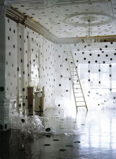 polka dot walls by addie