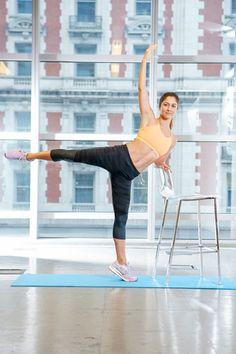 Butt workout move: Diagonal kicks