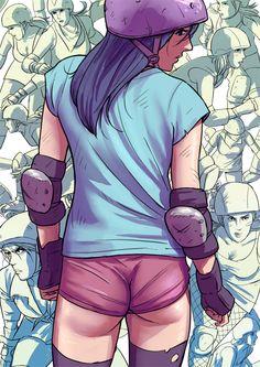 Roller Derby Color by Tohad #rollerderby #derbygirl #skate #skating #tohad
